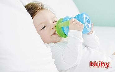 Apprenez à vos enfants à boire tout seuls avec Nuby !